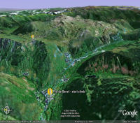 Google Earth 3D map Pla de Beret title=