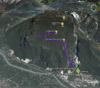 Google Earth 3D map Scanuppia - Malga Palazzo