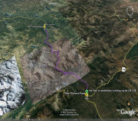 Google Earth 3D map Sonora Pass
