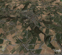 Brakkeberg sur Google Earth