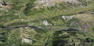 Google Earth 3D map Verbier