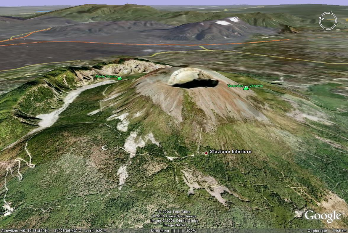 Google Earth 3D map Vesuvius