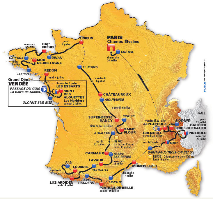 Tour de France 2013 Stages
